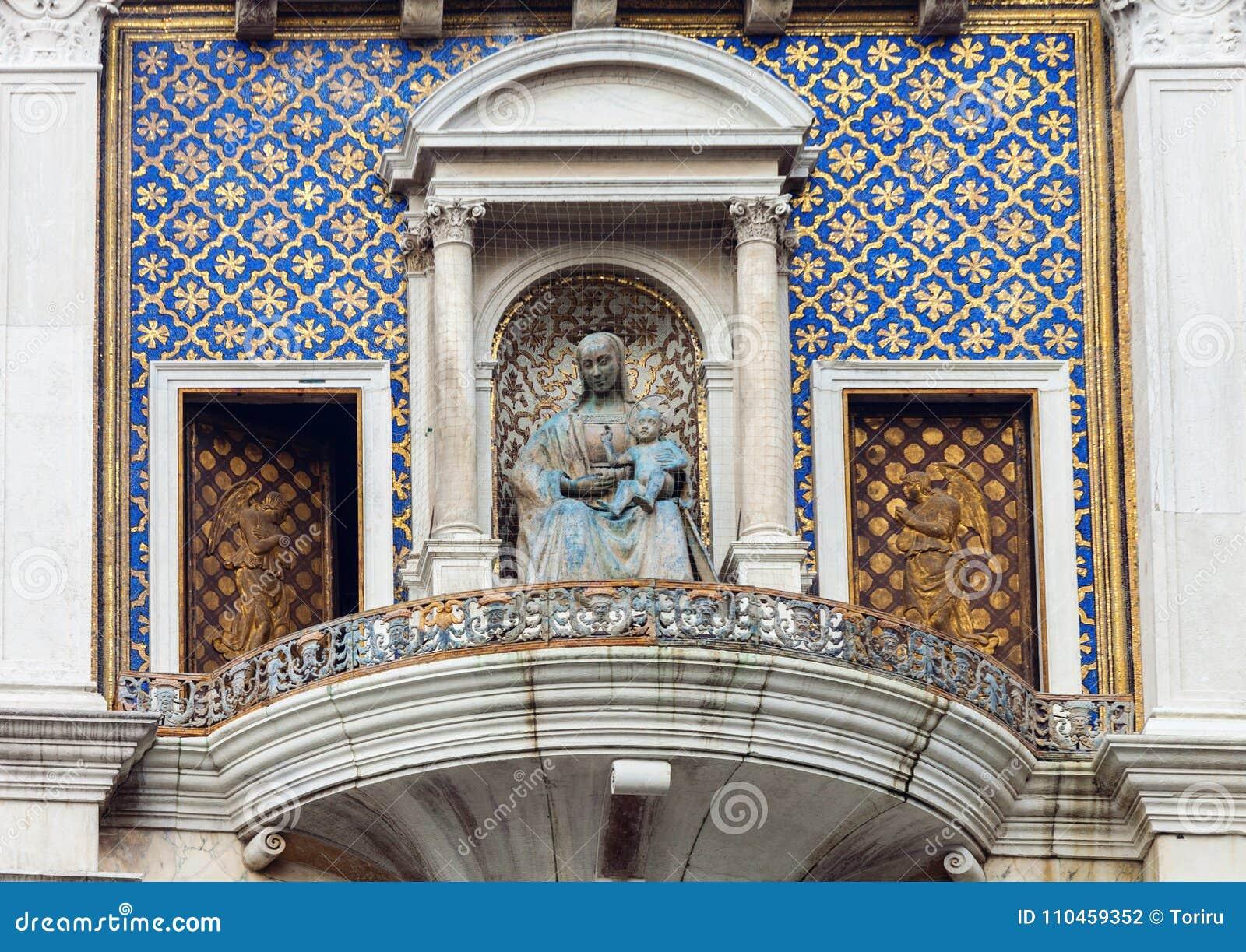 ` Orologio, Venedig, Italien för dell för klockatorn eller Torre