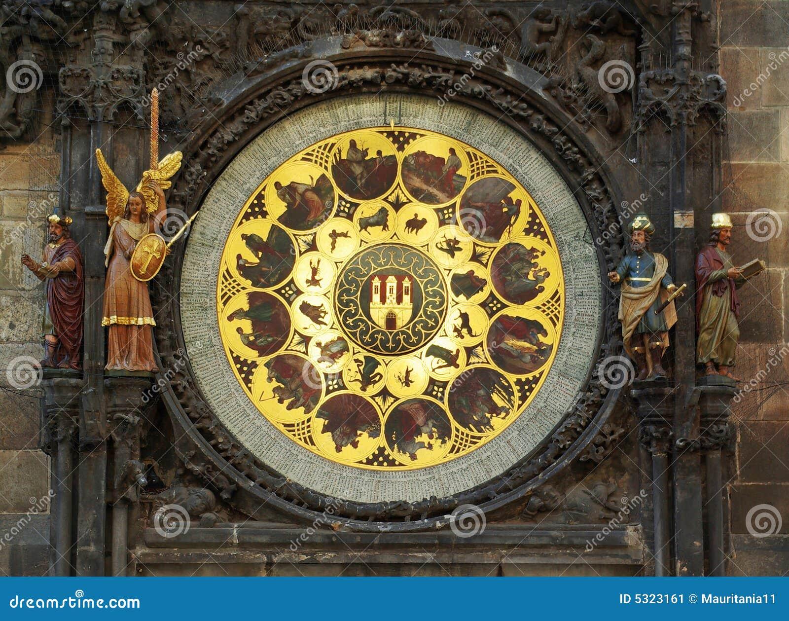 Download Orologio zodiacale a Praga immagine stock. Immagine di città - 5323161