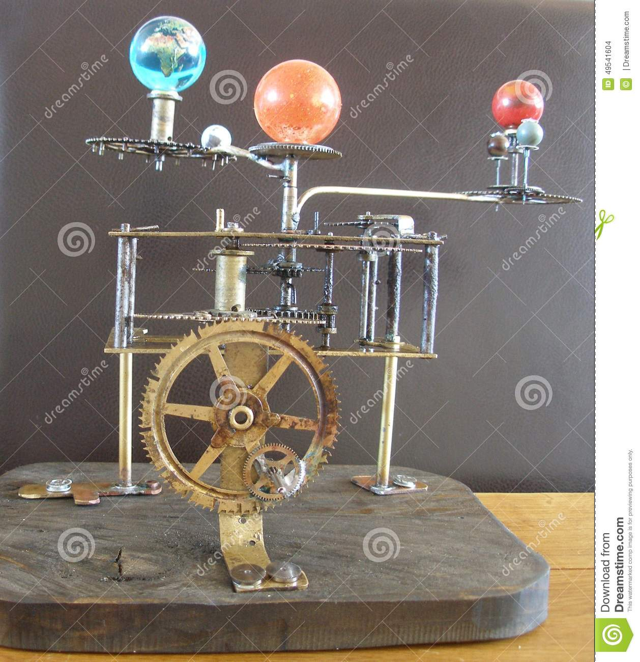 Orrery Steampunk Art Clock With Planets Of The Solar System