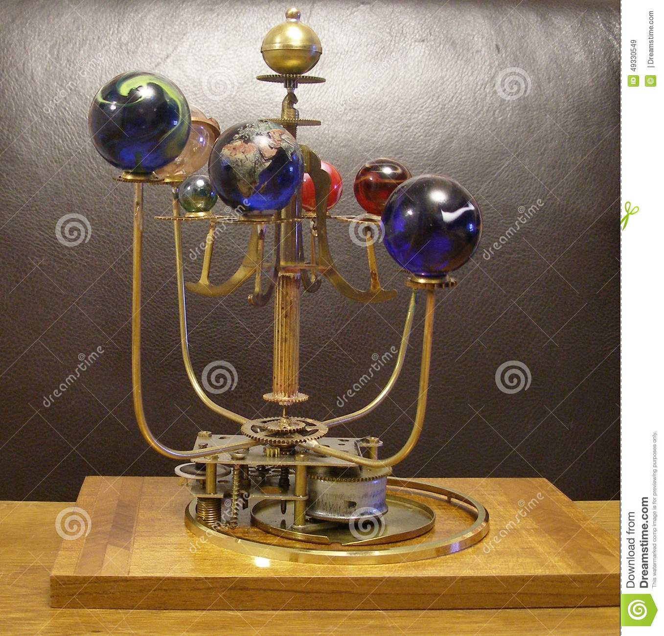 Orrery Steampunk Art Clock With 8 Planets Amp Sun Stock
