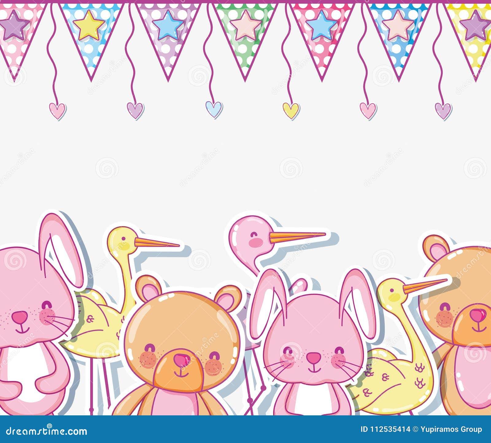 Orsi e fumetti svegli del coniglietto