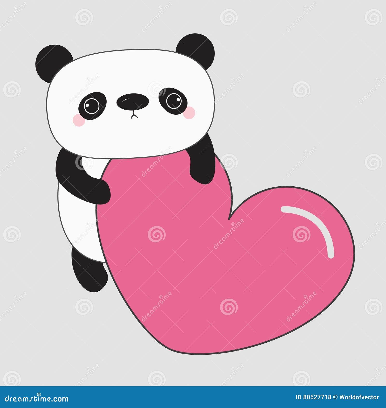 Orso del bambino del panda di kawaii personaggio dei cartoni