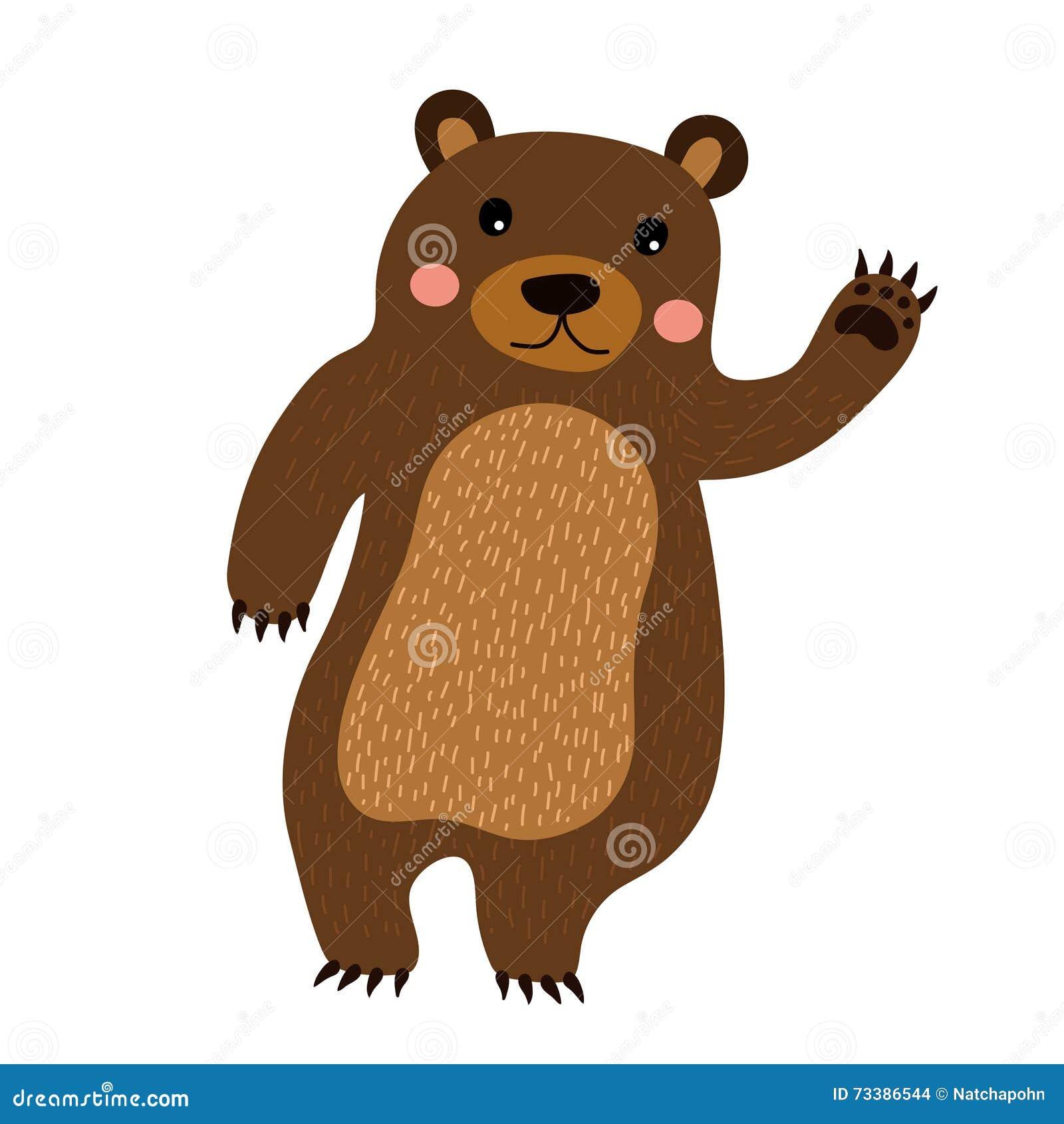 Un orso giocattolo cartone animato u vettoriali stock liusaart