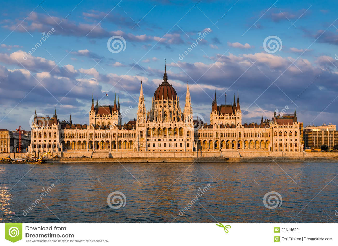 Orszaghaz Hungarian Parliament Budapest Royalty Free