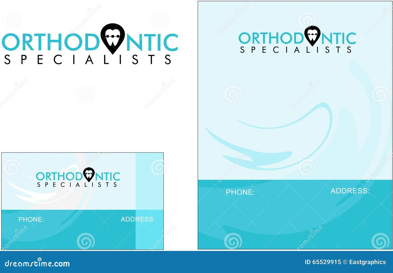 Orthodontique Dentiste Carte De Visite Professionnelle Moderne Logo Medecine