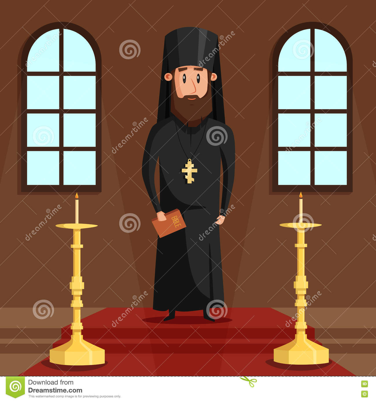 Orthodox Christian Priest Vector Isolated On White Background... Royalty  Free Cliparts, Vectors, And Stock Illustration. Image 95757953.