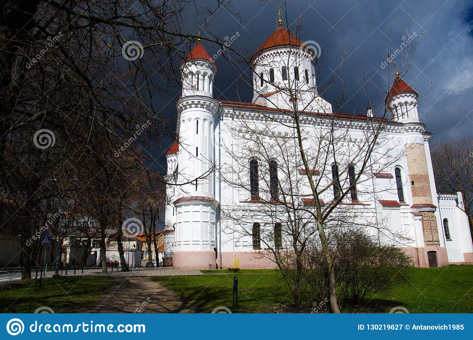 d30ee9cbe1 Orthodox Church Of Holy Mother Of God, Vilnius, Lithuania Stock ...