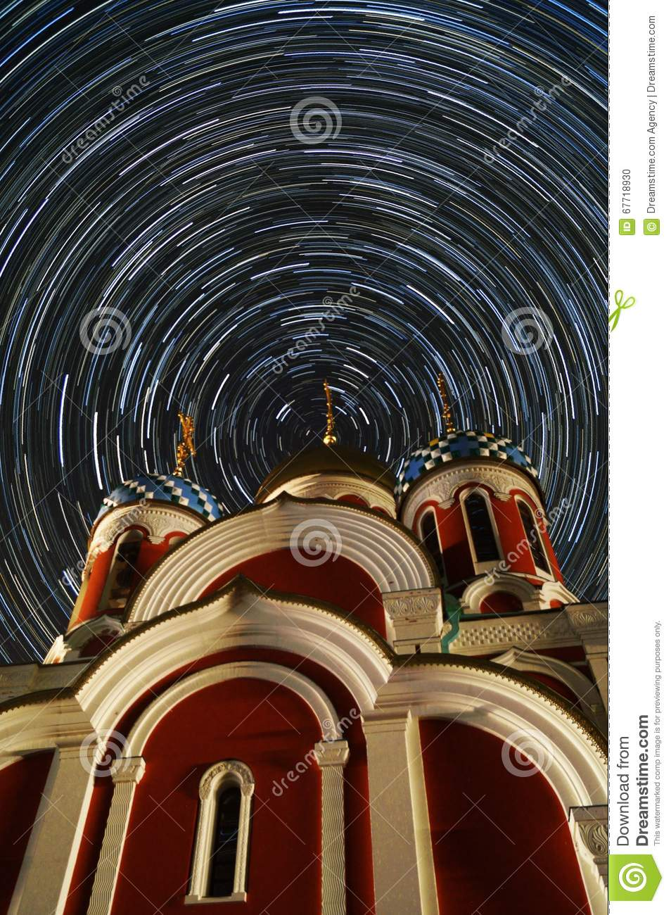 Orthodox Church of St. George - the town of Medyn, Kaluga region in Russia.