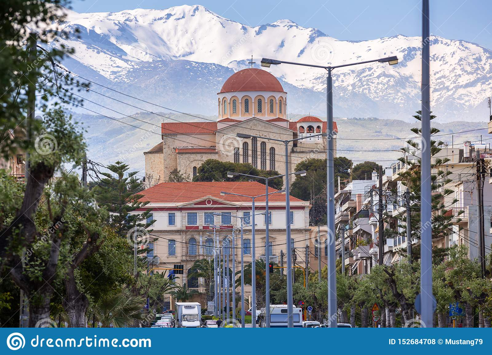 Orthodox Church Of St  Paul And Peter In Chania City On