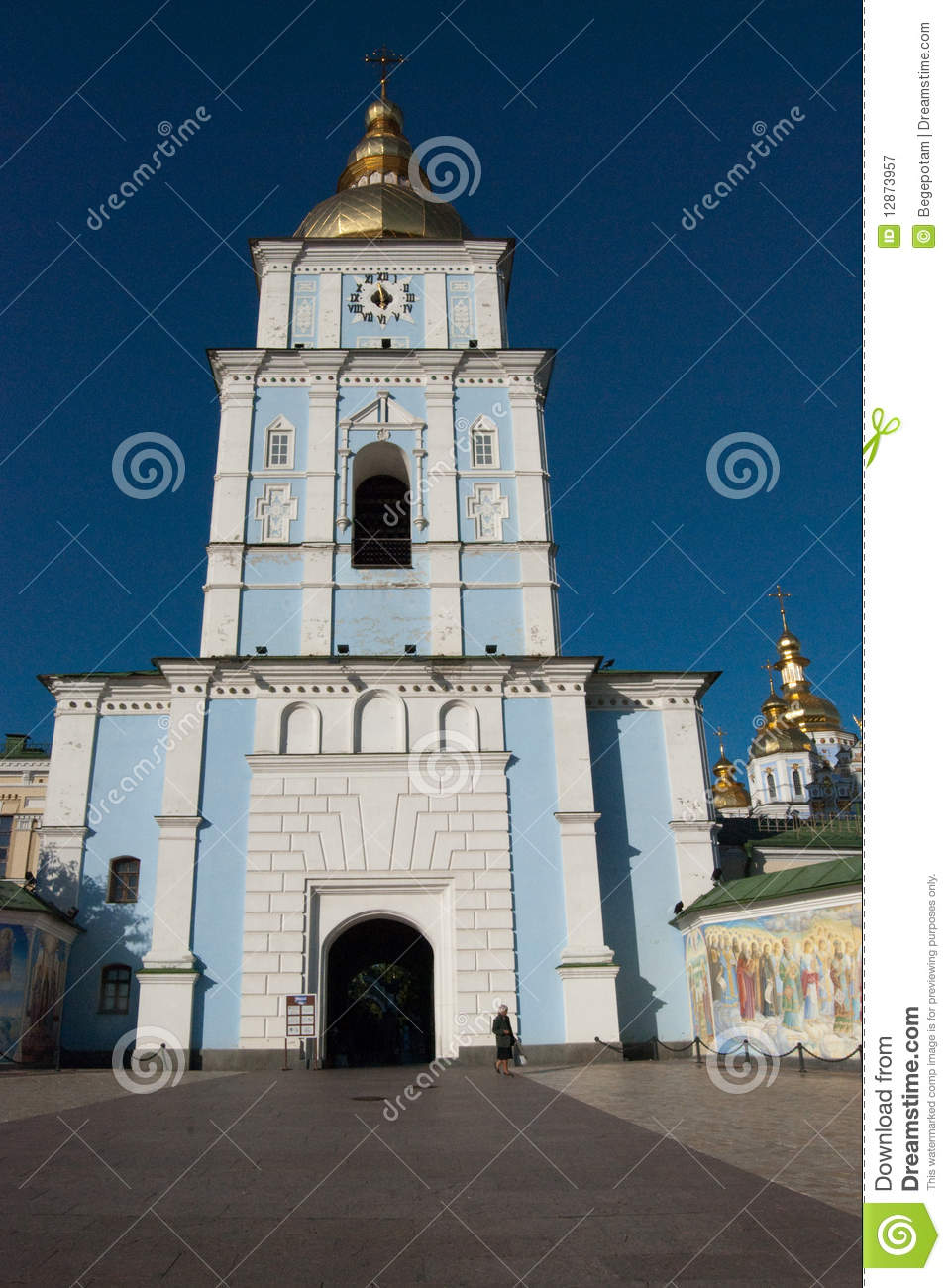 Orthodox church and wall murals kyiv royalty free stock for Church wall mural