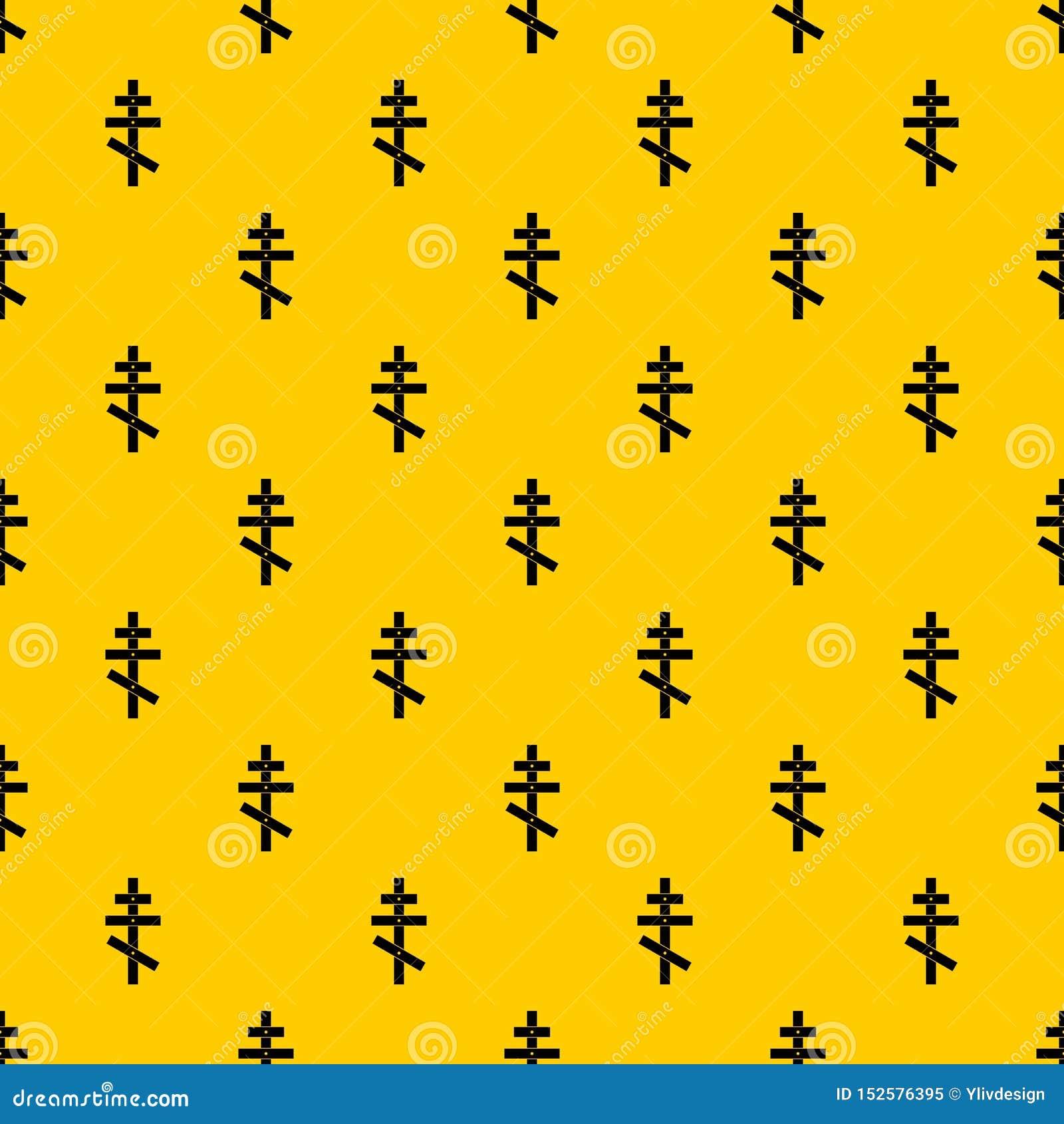 Orthodox cross pattern vector