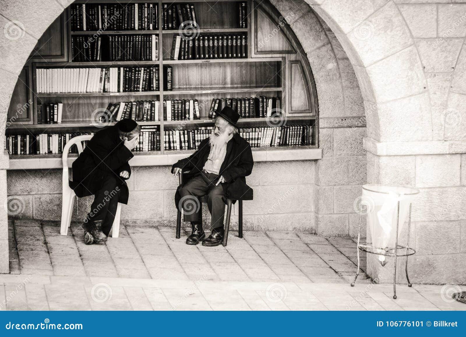 Orthodox Jews at Western Wall in Jerusalem