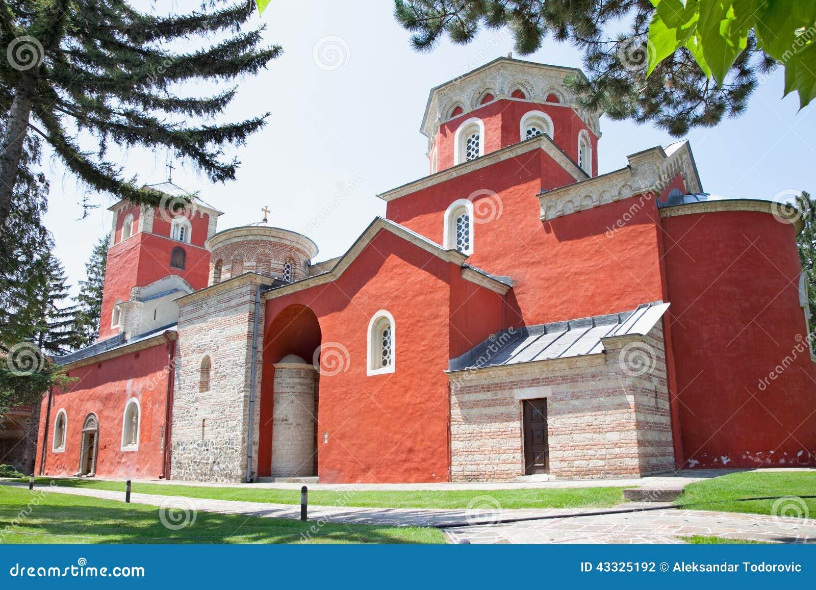 Orthodox Monastery Zica, near Kraljevo, Serbia.