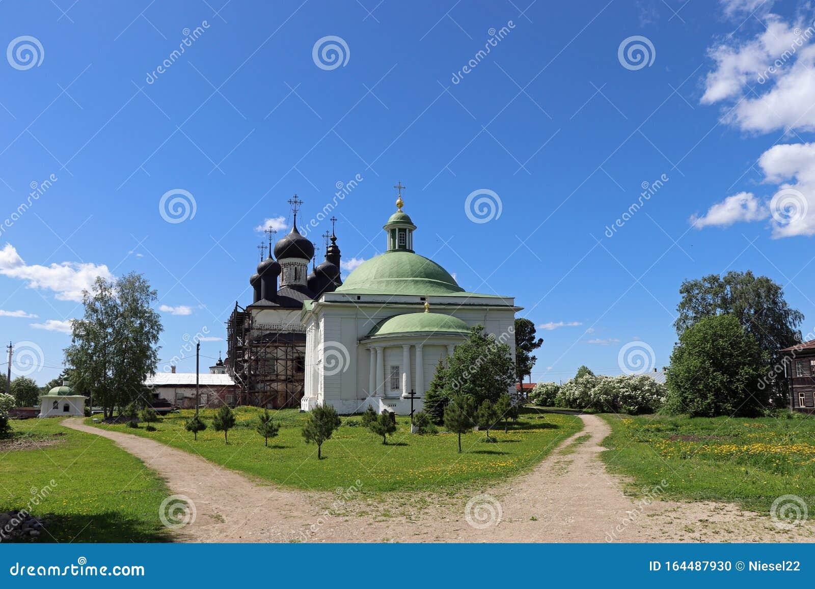 Orthodoxe Kirche In Goritsy, Russland Stockfoto - Bild von