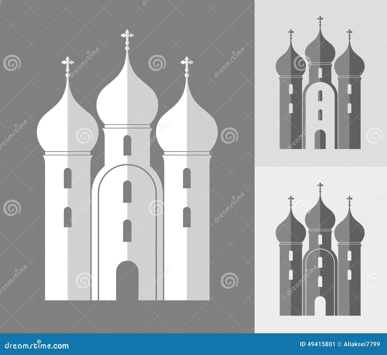 Download Orthodoxe Kirche Russland vektor abbildung. Illustration von origami - 49415801