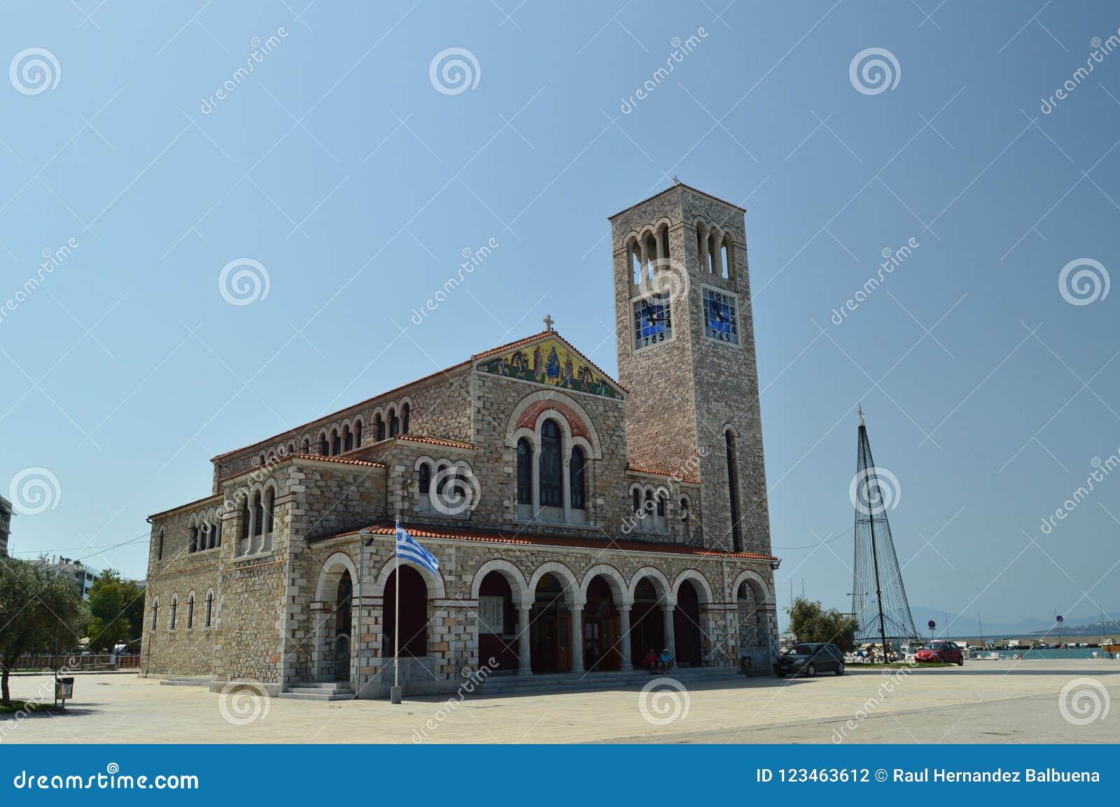 Orthodoxe Kirche Von Konstantinos On Its Main Facade