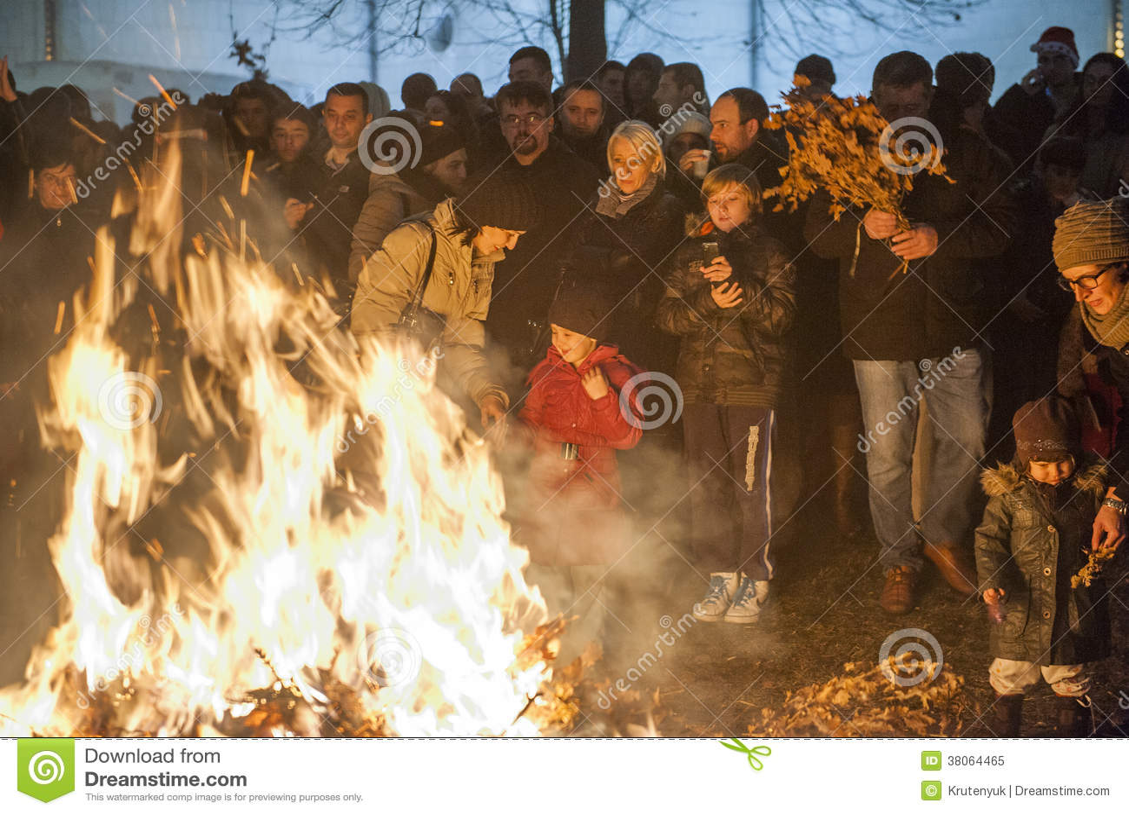 Orthodoxe Weihnachten.Orthodoxes Weihnachten Serbiens Redaktionelles Bild Bild
