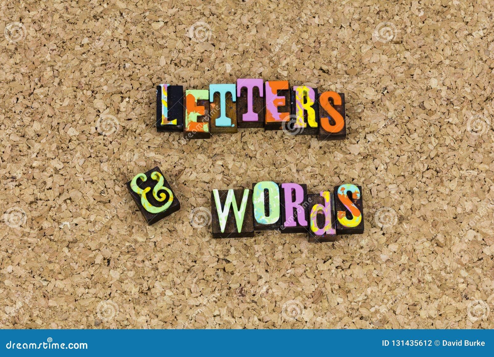 Orthographe D Expression De Mots De Lettres Illustration Stock