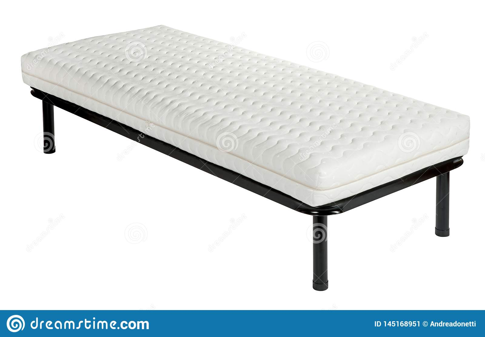 Orthopaedic Bed Set With Metal Frame And Mattress Stock Image