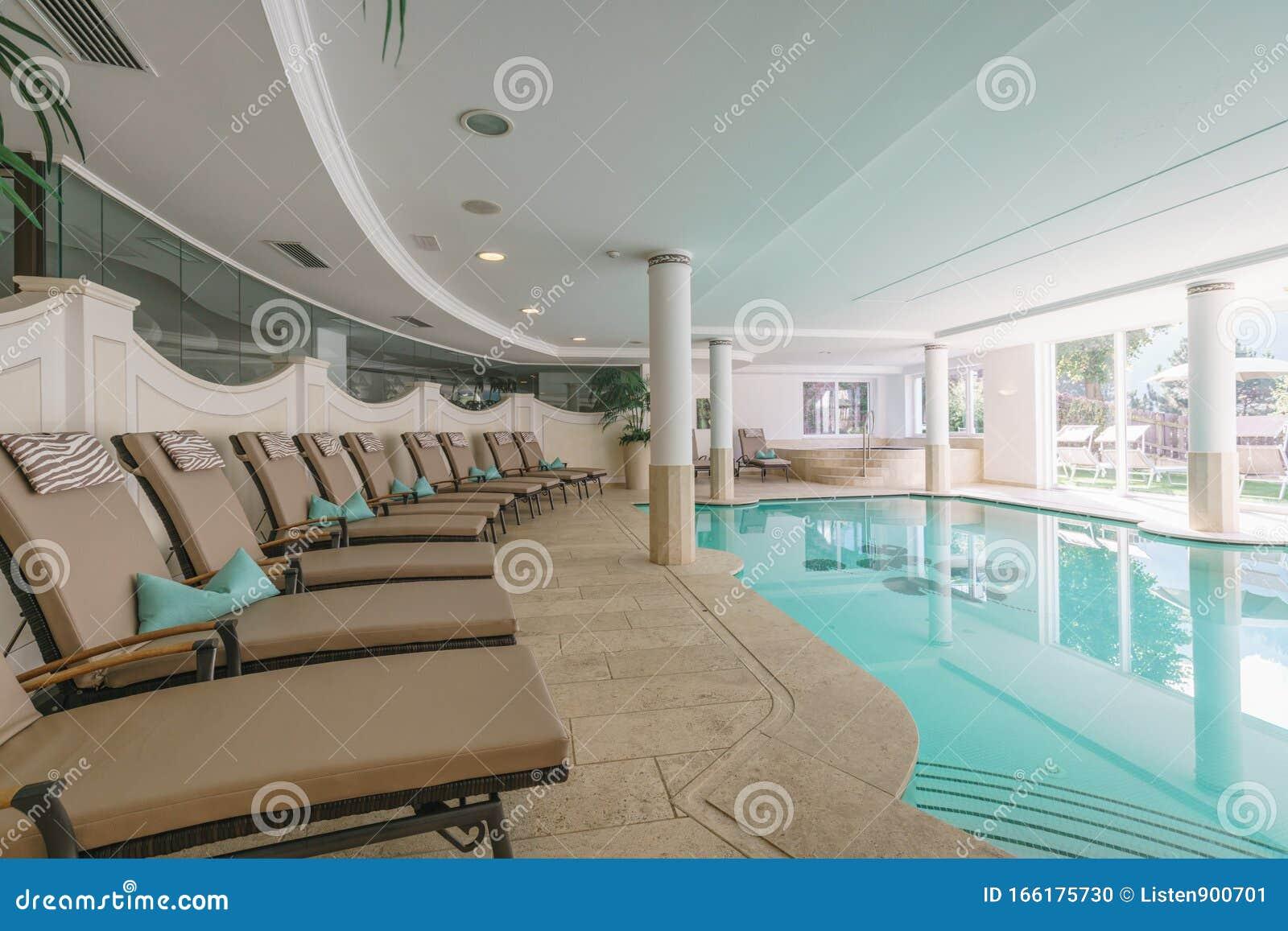 Indoor Swimming Pool In A Luxury Resort Stock Photo Image Of Ortisei Health 166175730