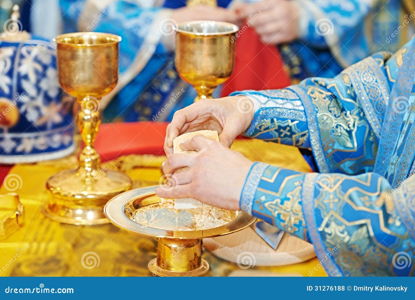 Ortodox kristen euharistsakramentceremoni