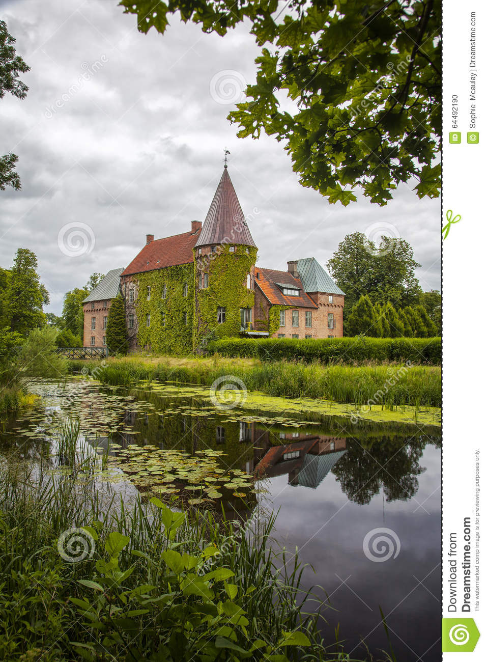 Download Ortofta castle and moat stock photo. Image of eslov, scandinavia - 64492190