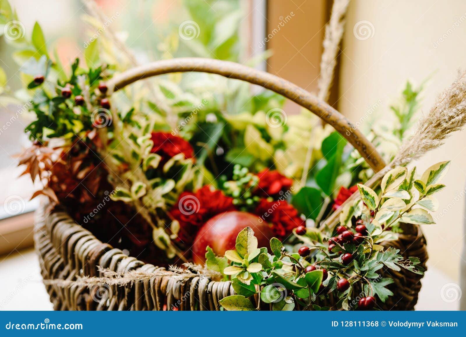 Oryginalna ślubna kwiecista dekoracja Jesieni dekoracja, dekoracja