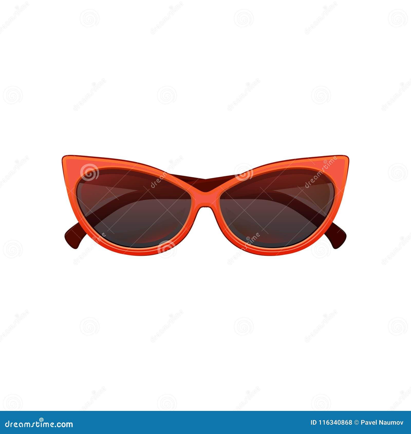 Os óculos de sol do olho de gato do encanto com preto matizaram lentes e o quadro plástico vermelho brilhante Eyewear protetor à