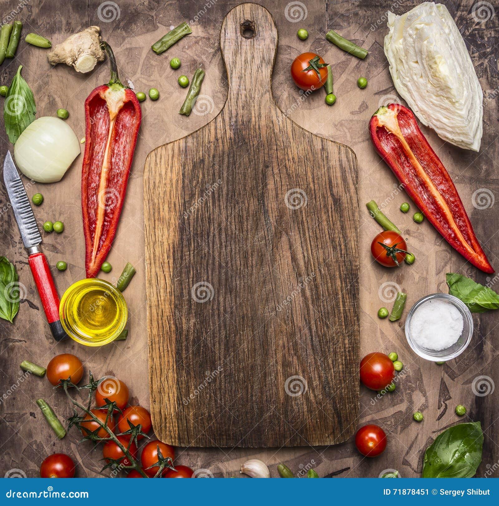 Os alimentos saudáveis, o cozimento e a variedade do conceito do vegetariano de vegetais e de frutos são apresentados em torno da