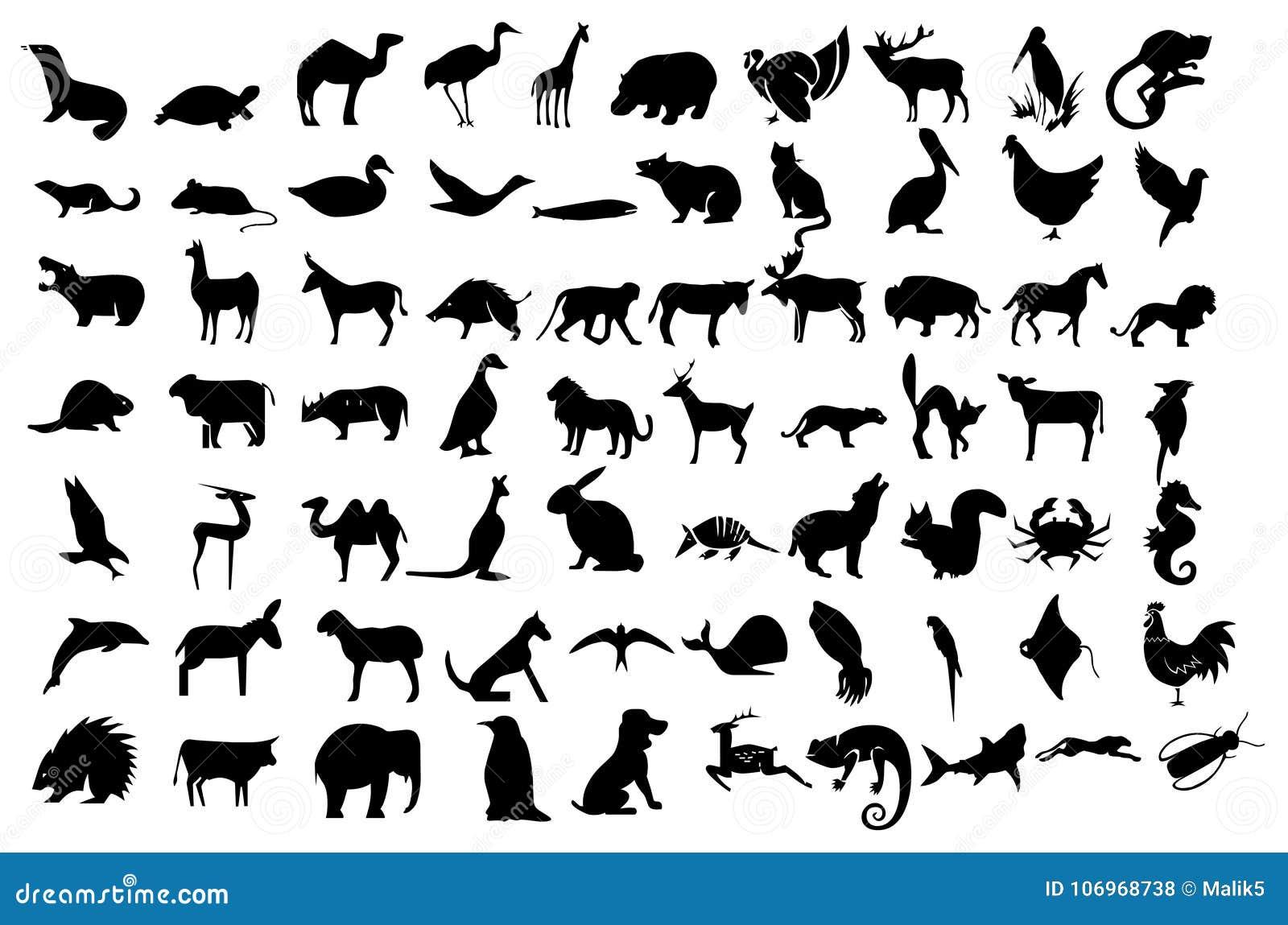 Os animais ajustaram ícones da coleção