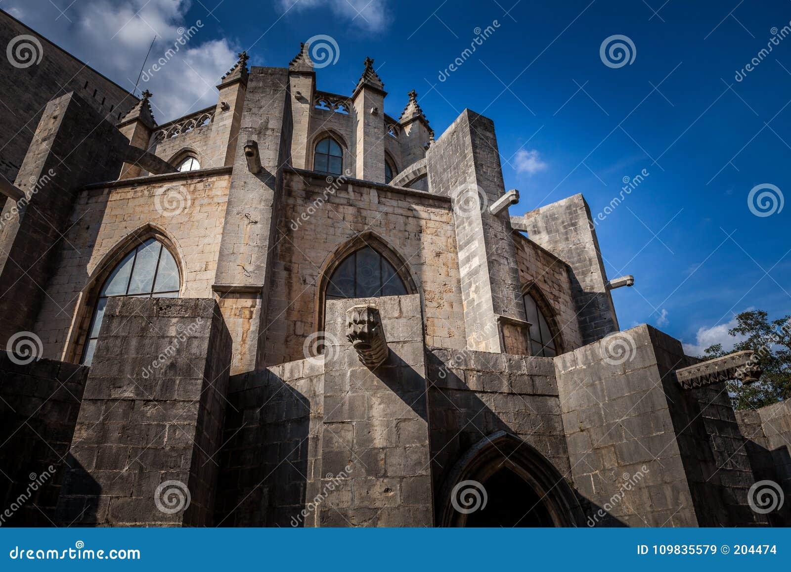 Os Arcos O Da Fachada Do Norte Da Catedral De Girona Sao Uma Igreja