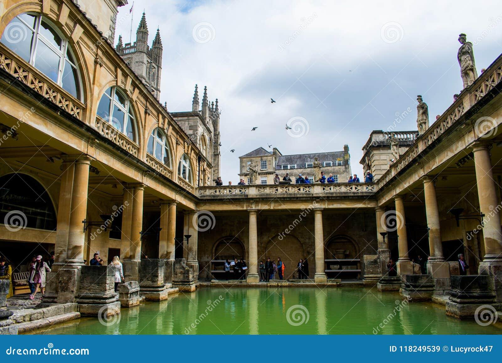 Os banhos romanos na cidade do banho