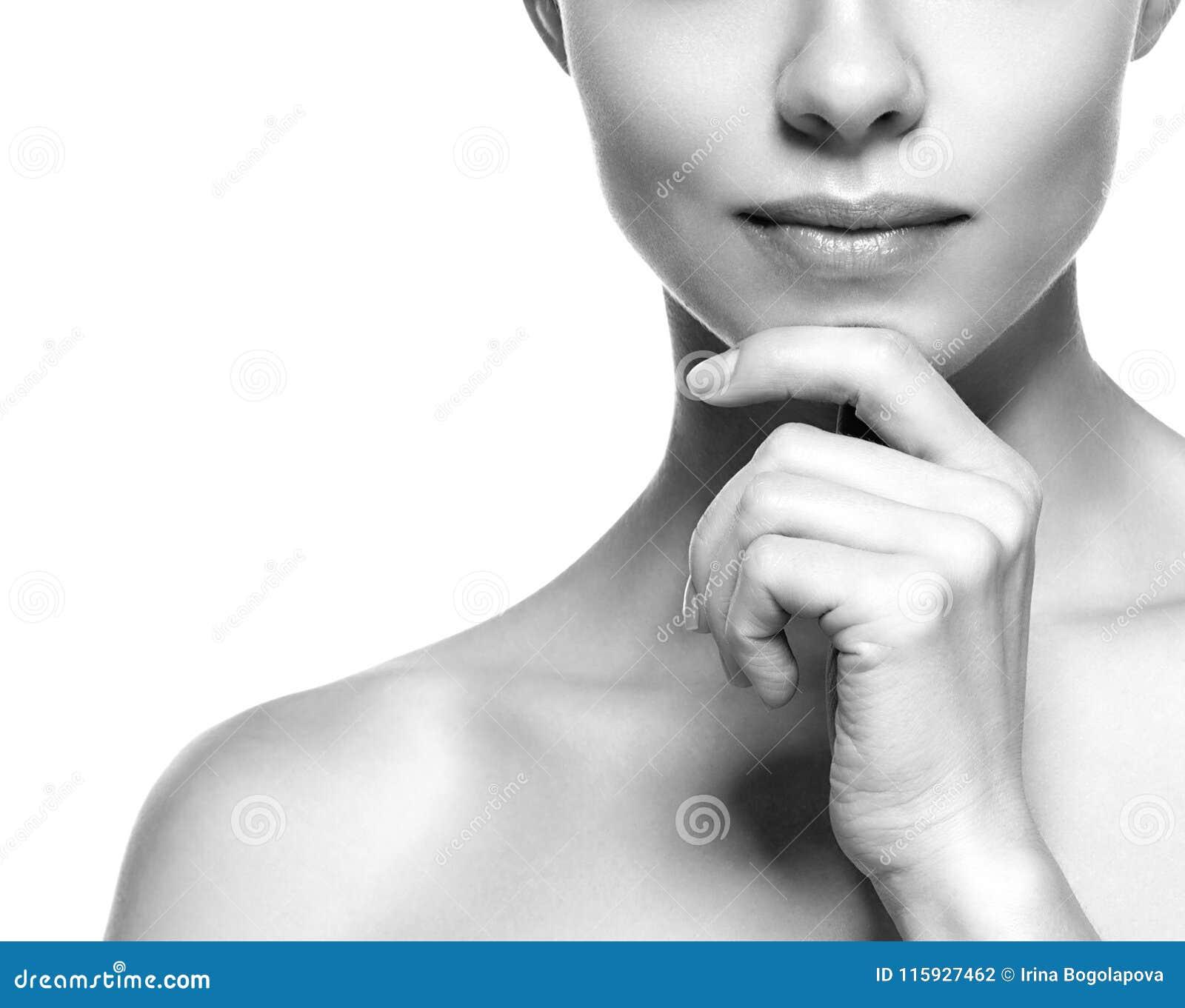 Os bordos e cheen Retrato da cara da mulher da beleza Rebecca 36 bea