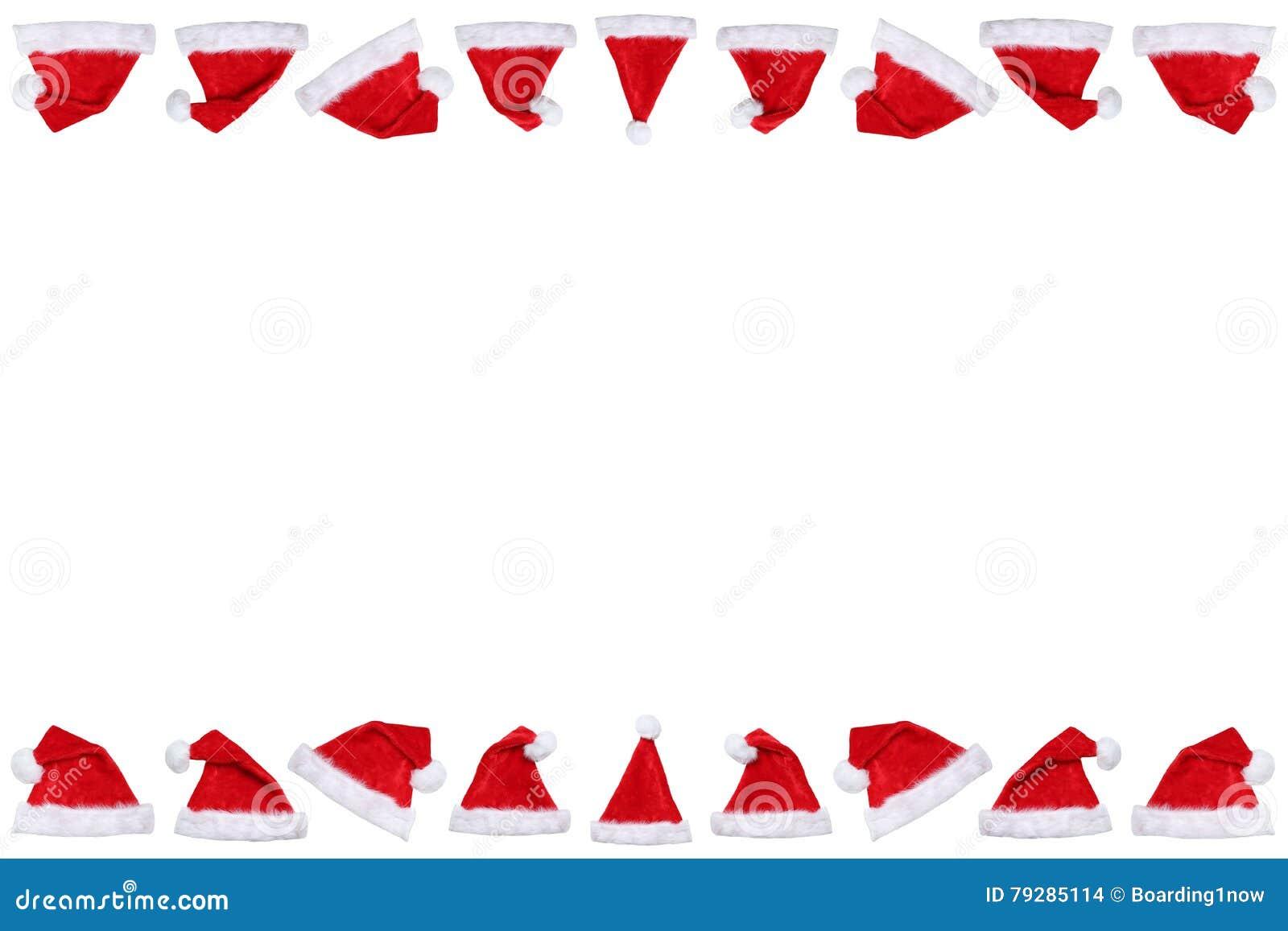 Os chapéus do chapéu de Santa Claus no Natal limitam wi do espaço da cópia do copyspace