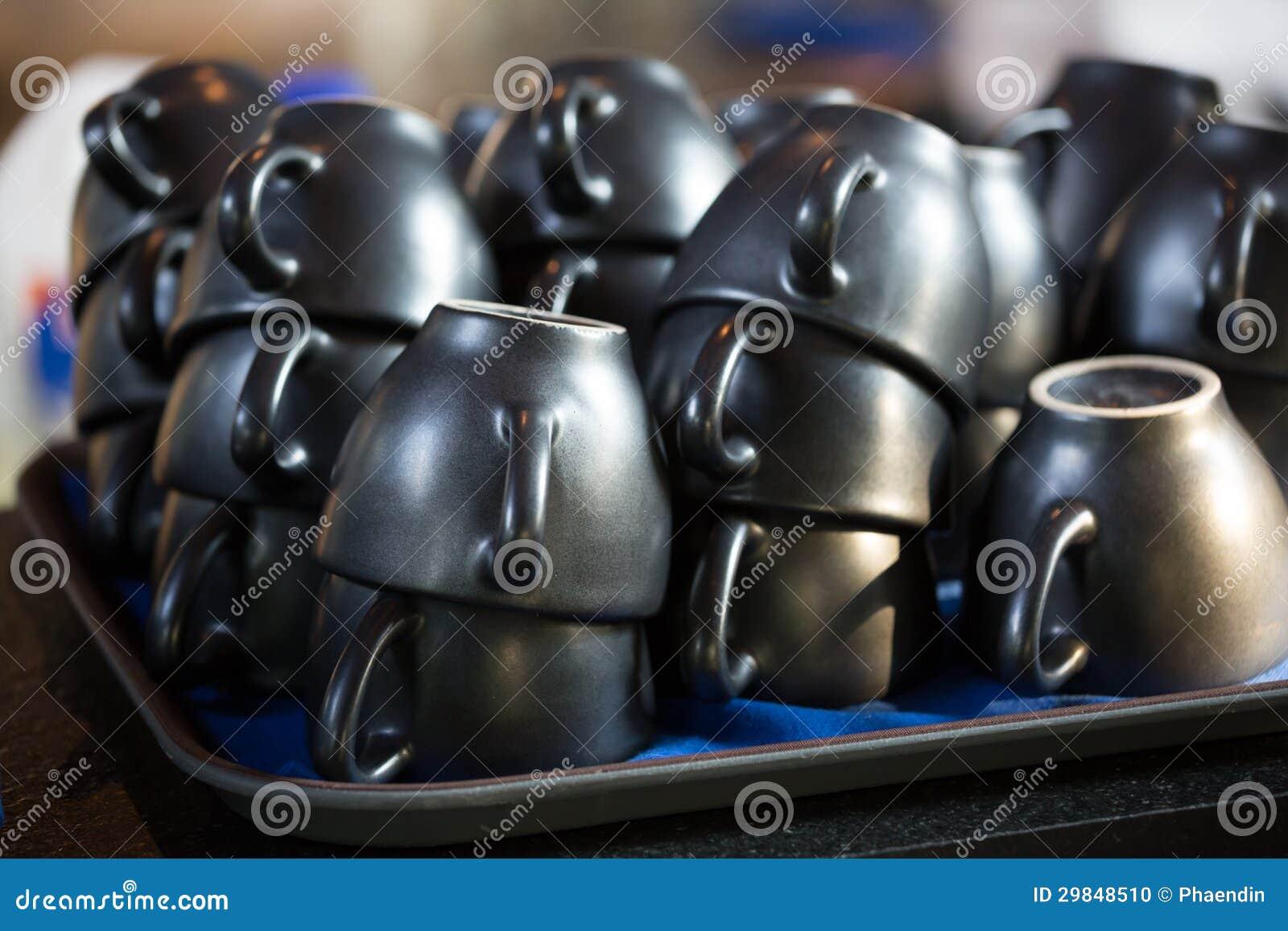 Copos de café vazios