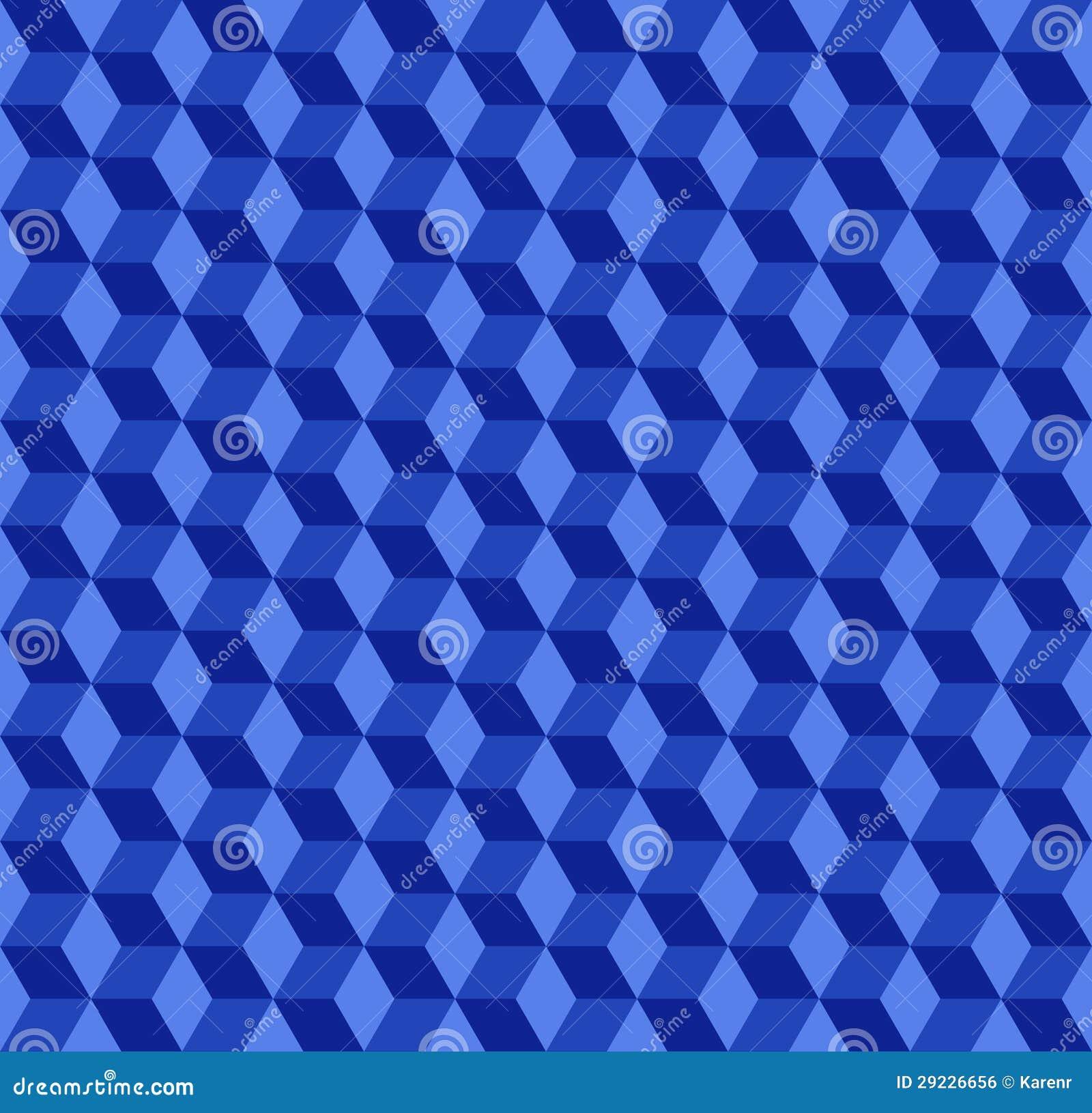 Download Os Cubos Azuis Modelam O Fundo Ilustração Stock - Ilustração de repeat, cubos: 29226656