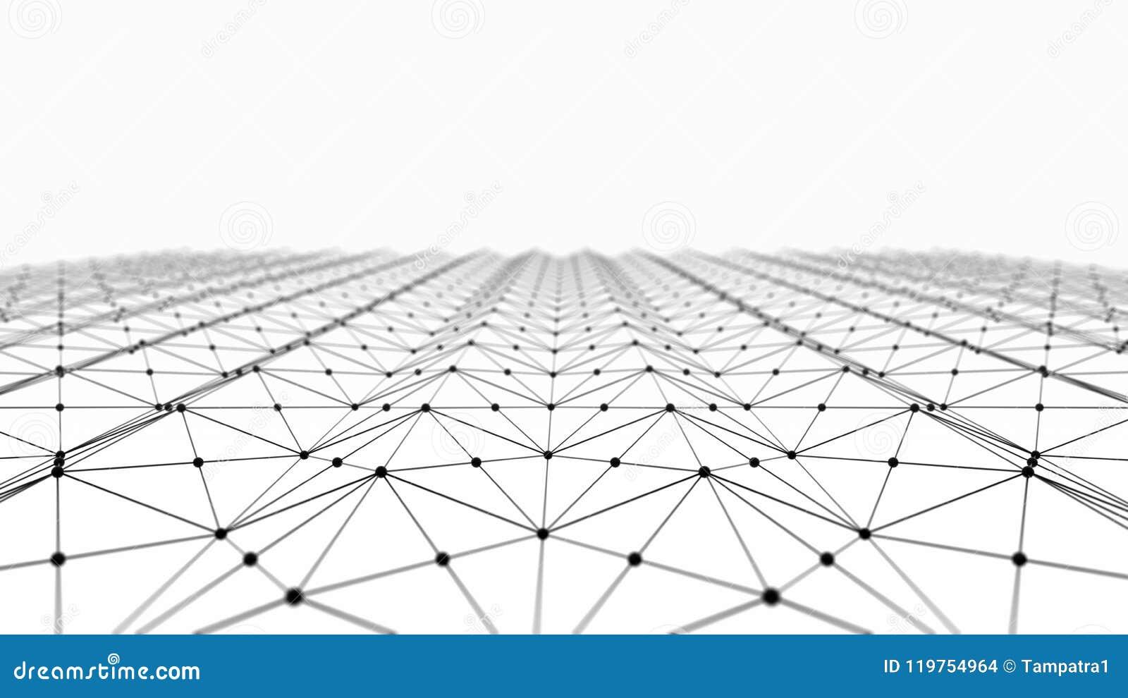 Os dados de Digitas e o triângulo preto da conexão de rede alinham