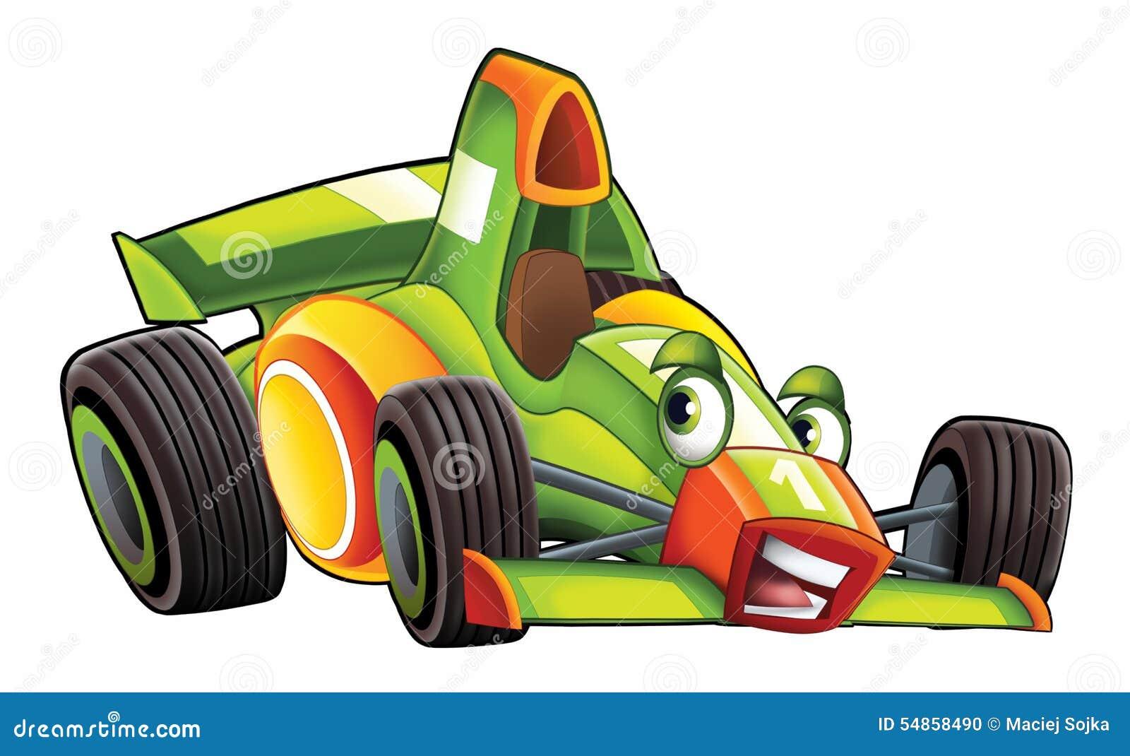 Os desenhos animados ostentam corridas de carros
