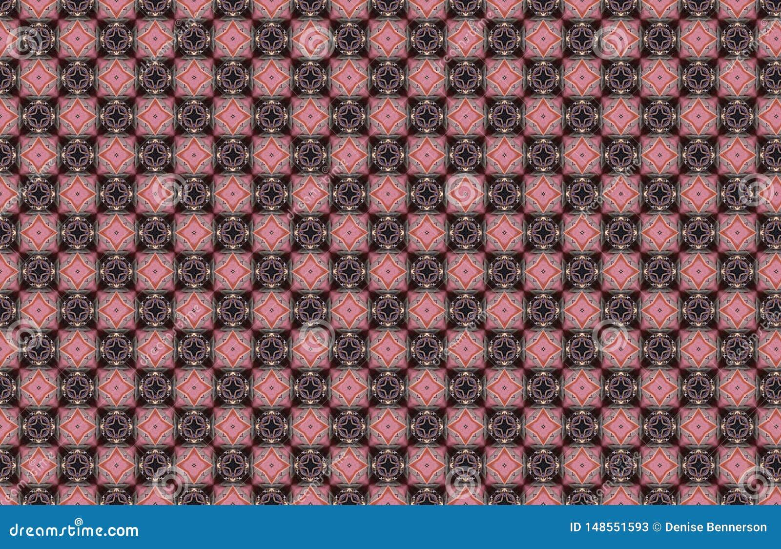 Os diamantes azuis cor-de-rosa esquadram o teste padr?o abstrato geom?trico