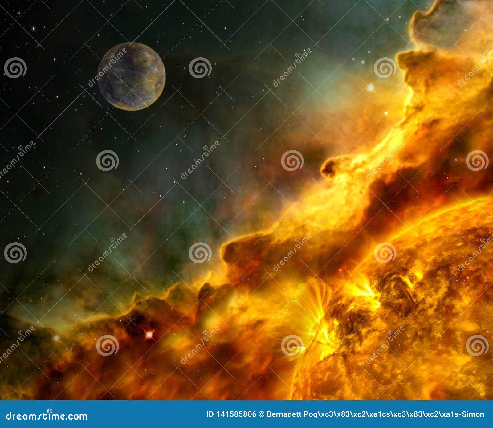 Os elementos solares da dinâmica da ejeção maciça coronal do alargamento solar desta imagem forneceram pela NASA