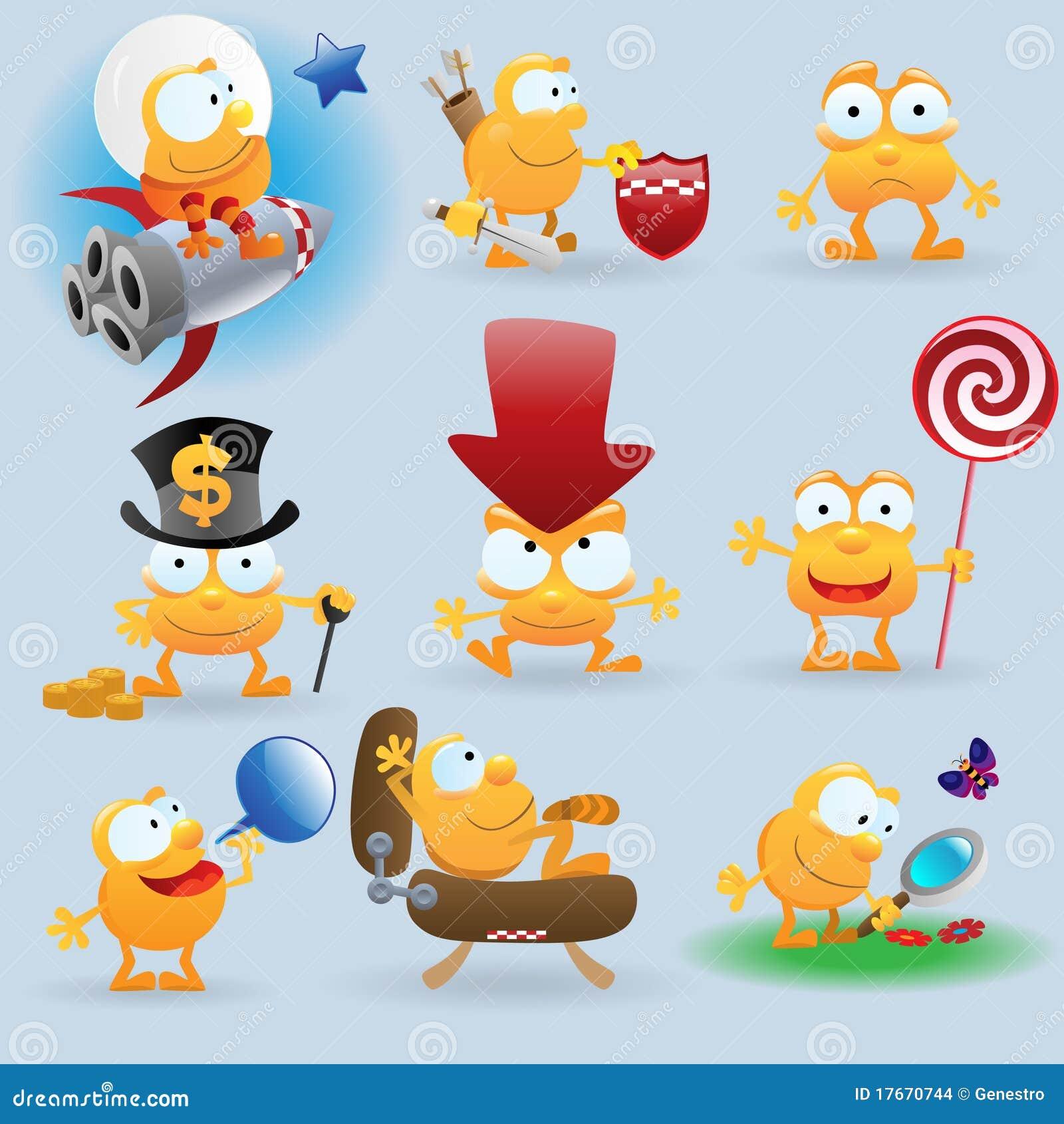 Emoticons Engraçados Ajustaram se Imagens de Stock Imagem: 17670744 #C78704 1300 1390