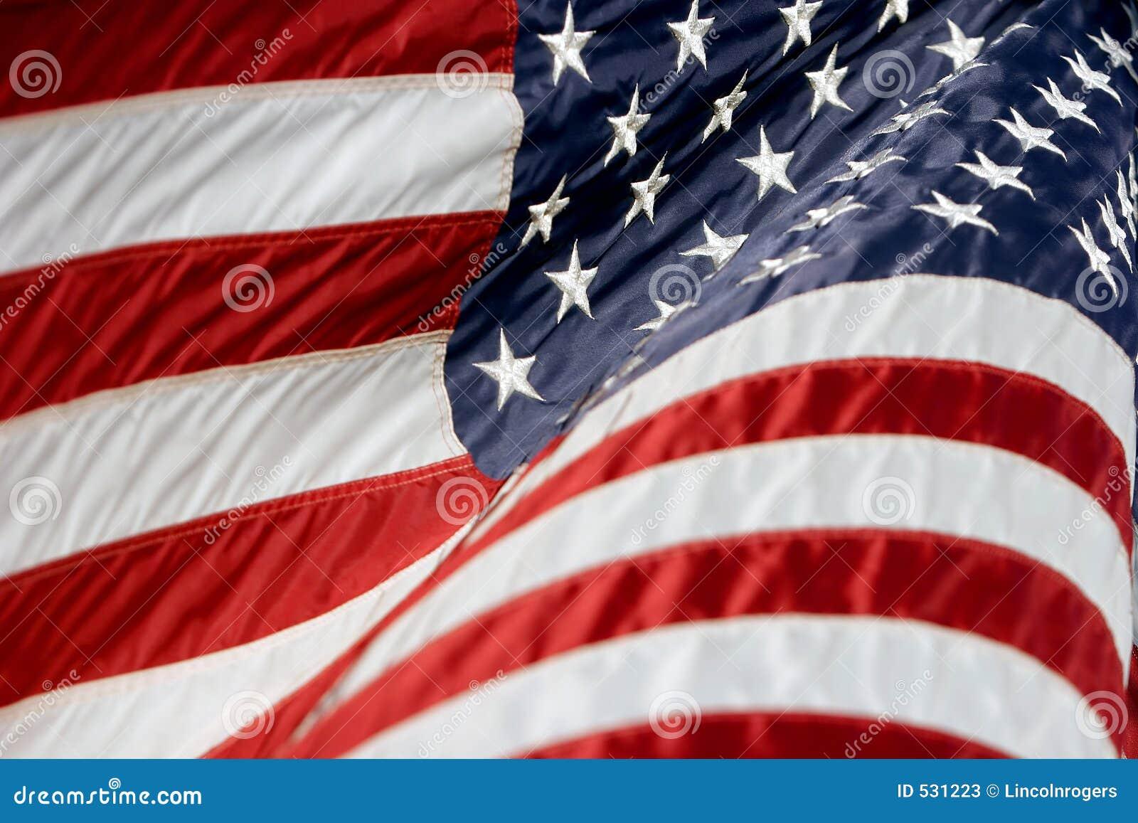 Os EUA embandeiram Billowing