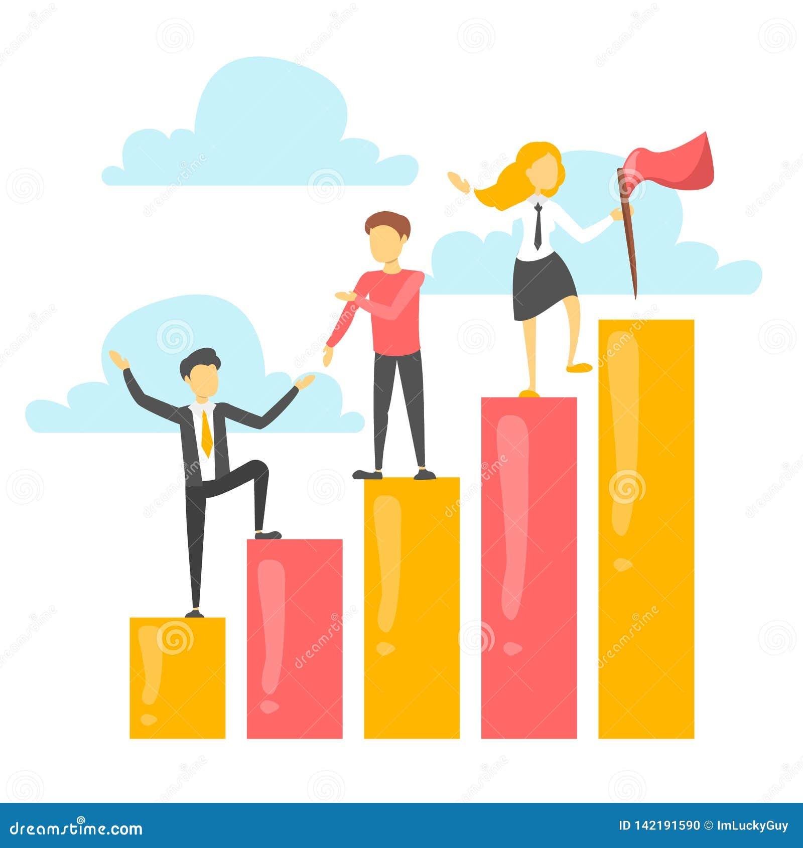 Os executivos escalam à parte superior do gráfico