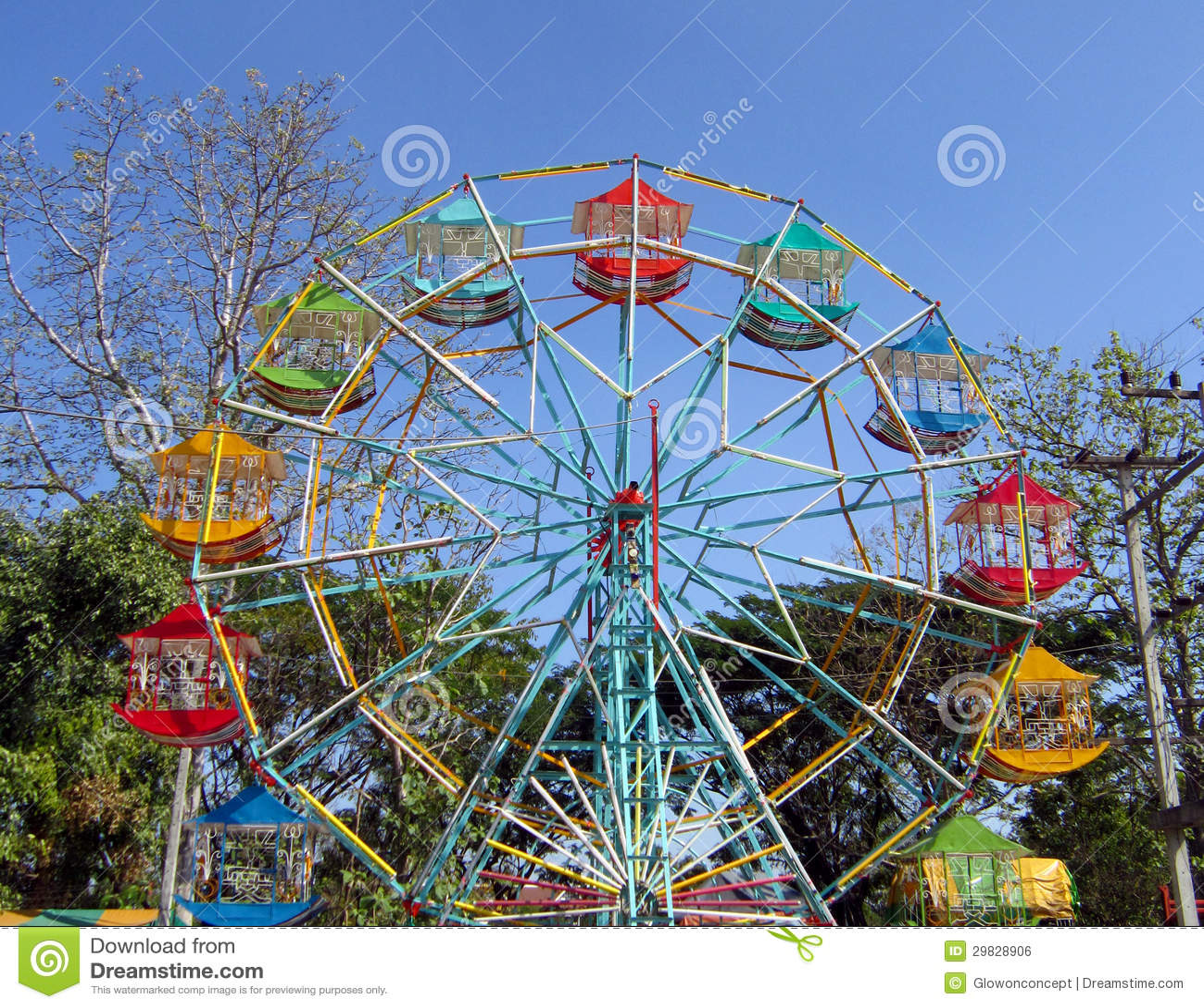 Roda de ferris colorida