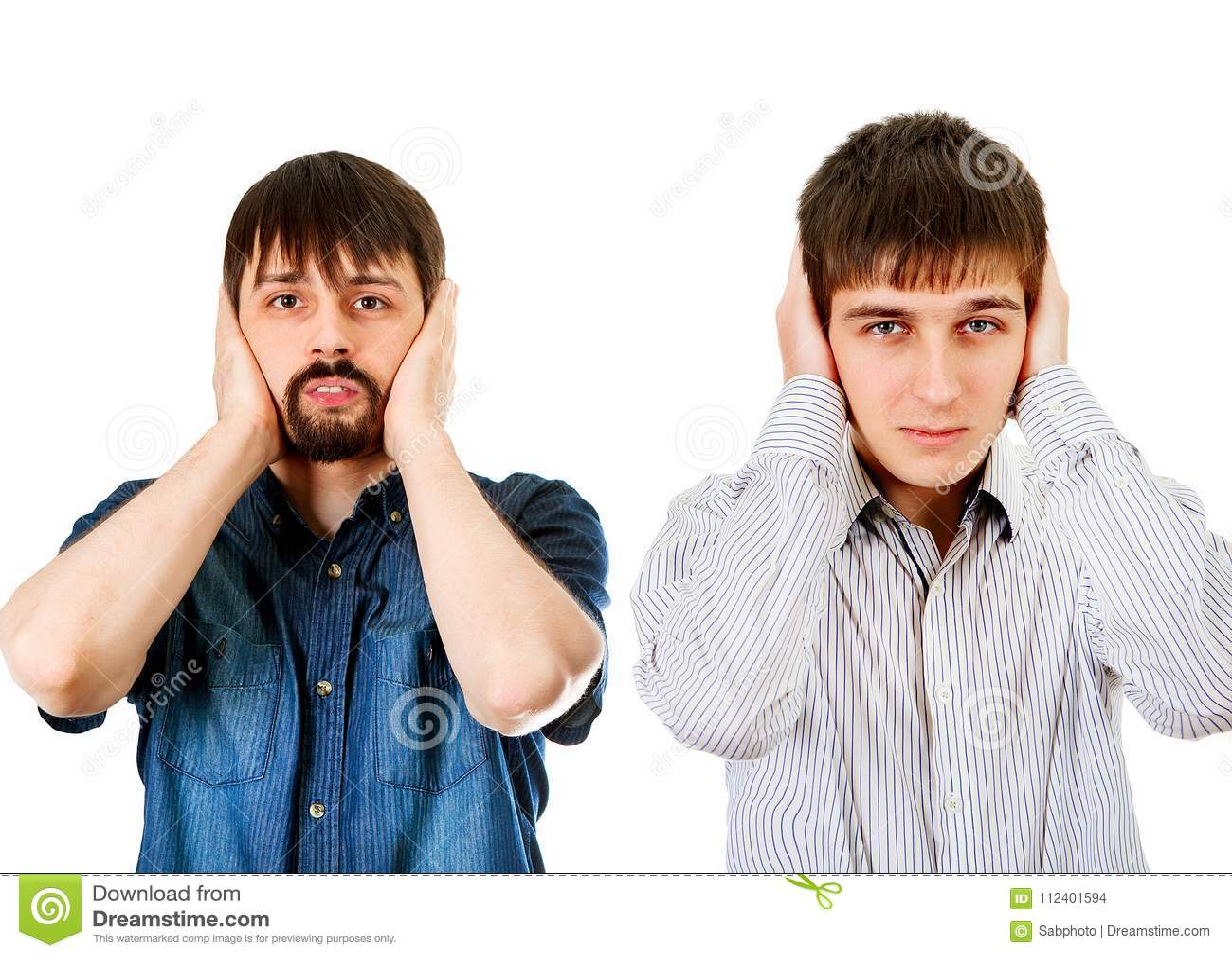 Os indivíduos fecham as orelhas