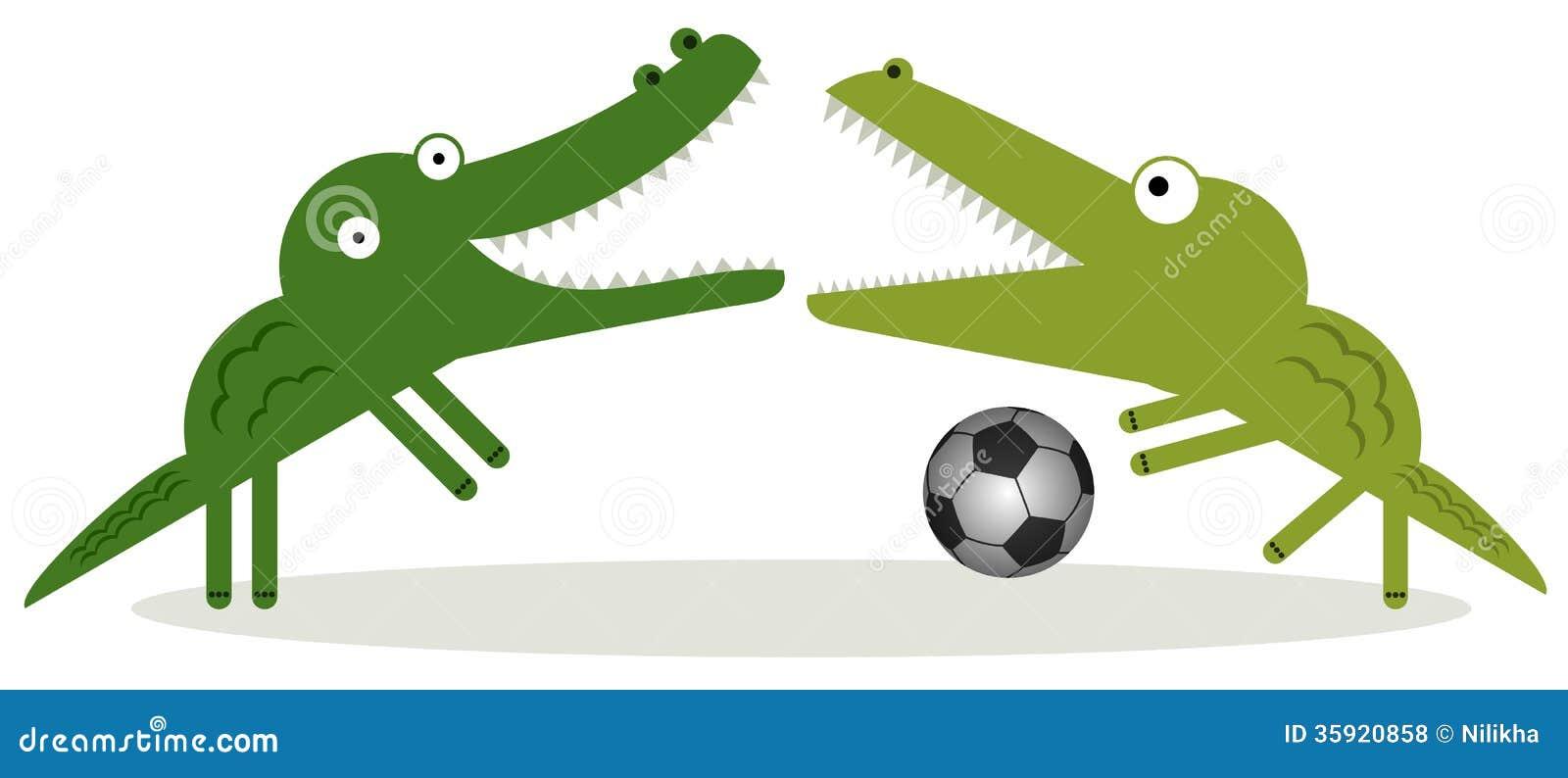 Os jacarés podem jogar o futebol