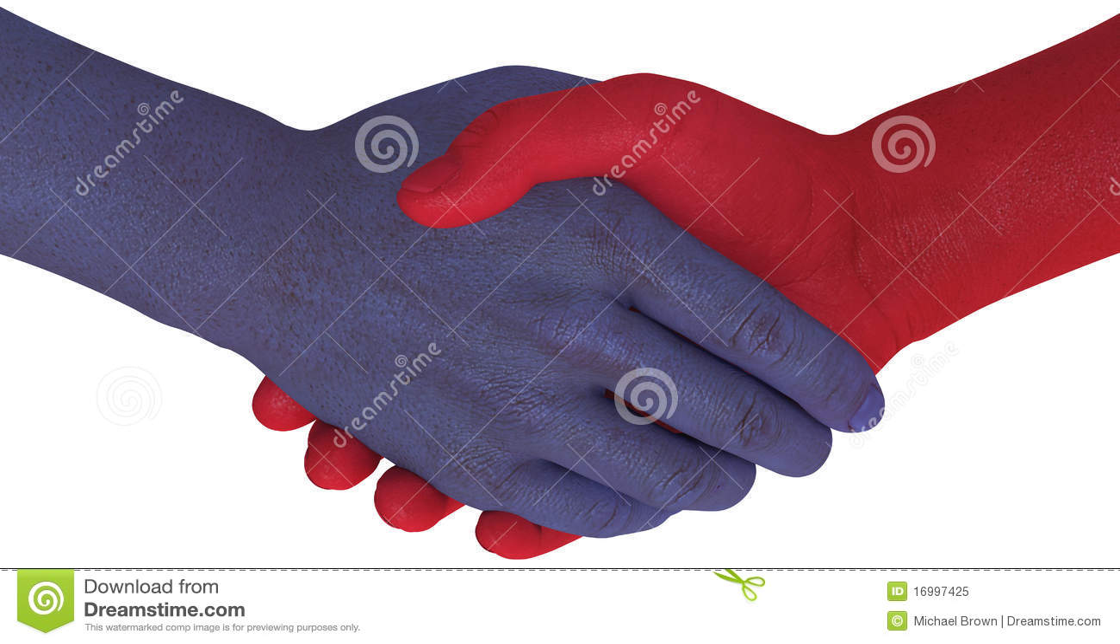 Os lados da oposição agitam as mãos concordam o acordo