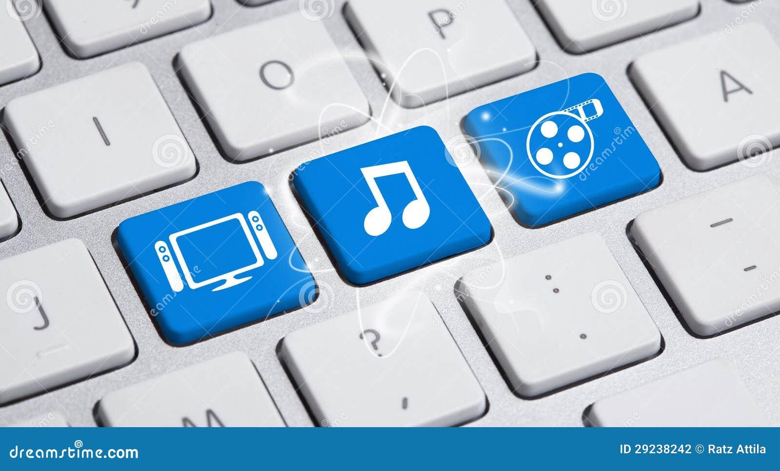 Download Os Media Sociais Abotoam-se No Teclado Ilustração Stock - Ilustração de como, conexão: 29238242