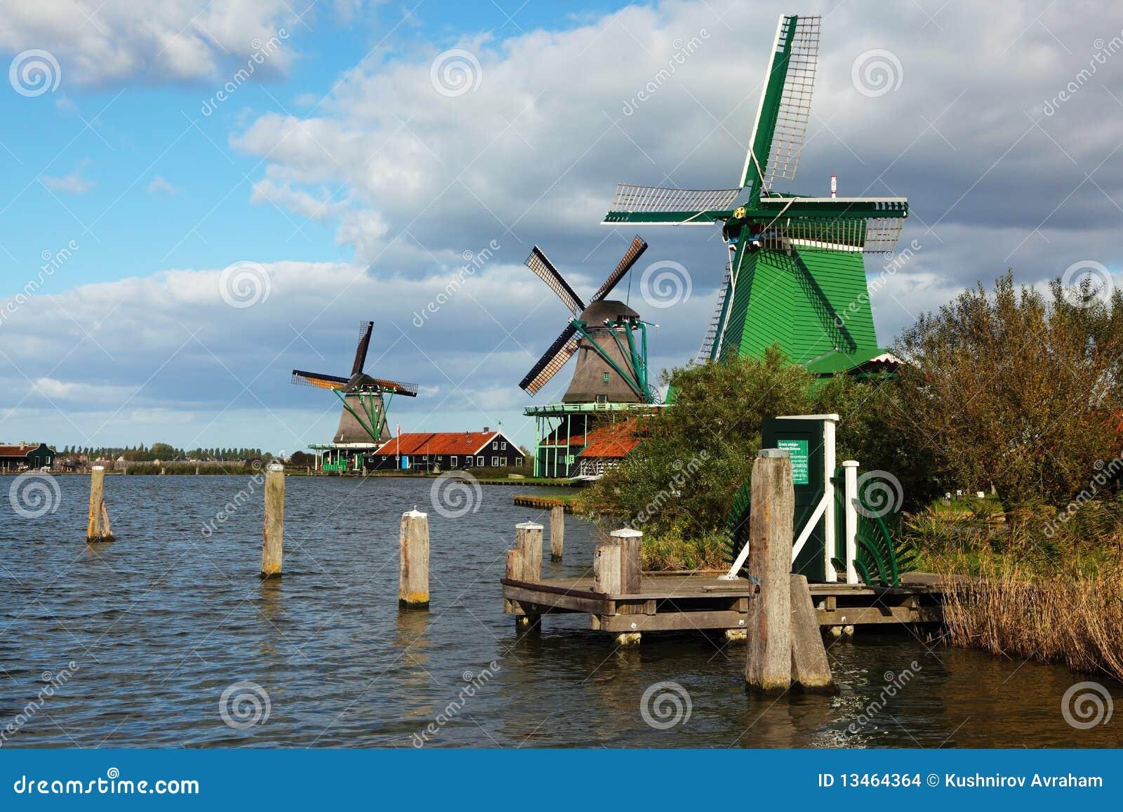 Os moinhos de vento e as canaletas no museu