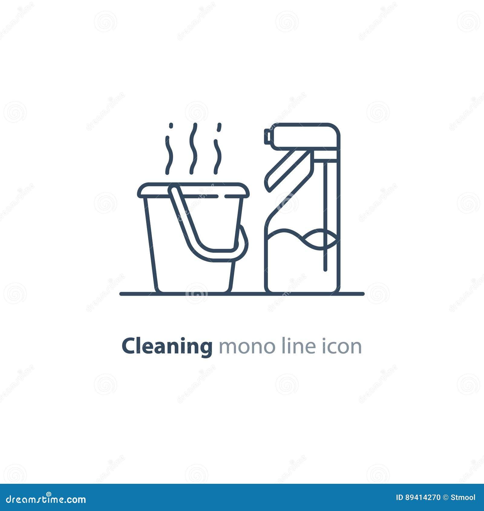Os objetos do saneamento ajustaram-se, limpando artigos do equipamento e serviços, linha ícones